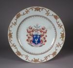 Armorial plate dobree 1755