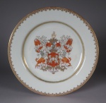 Armorial plate king 1748