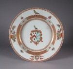 Armorial plate lethieullier salkeld 1724