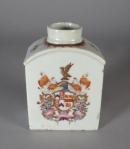Armorial tea caddy marler baker 1760