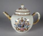 Armorial teapot boot van waert accolle 1740