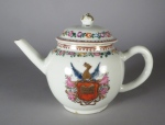 Armorial unknown arms teapot 1760