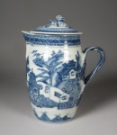 Blue and white cider jug 1790
