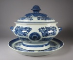 Blue and white fitzhugh tureen 1790