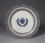 Blue and white nine desert plates 1790 detail 1