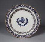 Blue and white nine desert plates 1790 detail 1