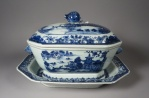 Blue and white tureen 1760