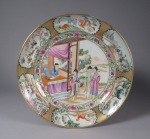 Famille rose palaceware plate 1800