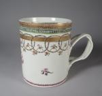 Famille rose tankard 1790 detail 1
