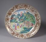 Rose mandarin plate 1830
