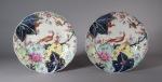 Tobacco leaf plate pair 1790