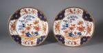 Armorial plates pair arms of williamson 1800