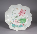 Famille rose applied decoration teapot stand 1730
