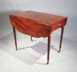 NY sheraton mahogany table
