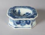 Blue and white master salt mandarin scene 1760