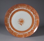Red Rover dinner plate