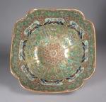 Persian market cut corner bowl 1870 detail 2