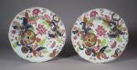 Tobacco leaf plate pair 1770